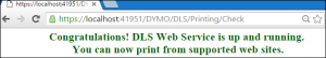 Web Service is up and running configuration